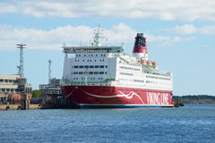 Sea ferry Mariella of Viking Line in the port of Helsinki. Royalty Free Stock Photography