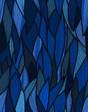 Sea fibres pattern. Pattern with fibres in blue tones Royalty Free Stock Image