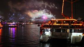 Sea Fireworks Sydney stock video footage