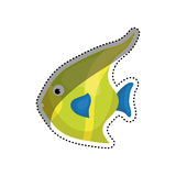 Sea fish animal. Icon  illustration graphic design Stock Images