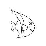 Sea fish animal. Icon  illustration graphic design Stock Photography
