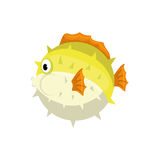 Sea fish animal. Icon  illustration graphic design Stock Photos