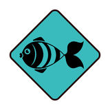 Sea fish emblem icon. Vector illustration design Royalty Free Stock Photography