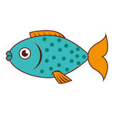 Sea fish emblem icon. Vector illustration design Royalty Free Stock Image