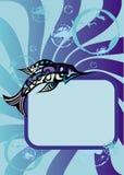 Sea fish frame Stock Photos