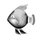 Sea fish icon. Over white background. vector illustration Stock Images
