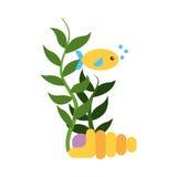 Sea fish swiming icon. Vector illustration design Stock Images