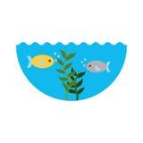 Sea fish swiming icon. Vector illustration design Stock Image