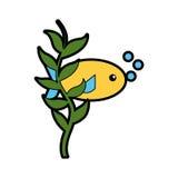 Sea fish swiming icon. Vector illustration design Royalty Free Stock Image