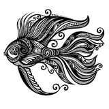 Sea fish. Vector Abstract Sea Fish. Patterned design Royalty Free Stock Photography