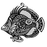 Sea fish. Vector Abstract Sea Fish. Patterned design Stock Images