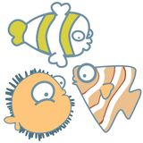 Sea fishes- cute graphic icon cartoon vector illustration