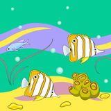 Sea fishes repeating pattern Royalty Free Stock Photography