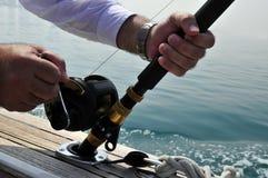 Sea fishing. royalty free stock image