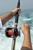 Sea fishing. stock image