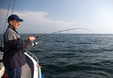 Sea fishing. royalty free stock photography