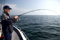 Sea fishing. Royalty Free Stock Photo