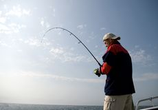 Sea fishing. Stock Photography