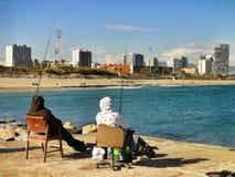 Sea fishing in Barcelona Stock Photo