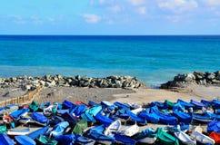 Sea and fishing boats Stock Photo