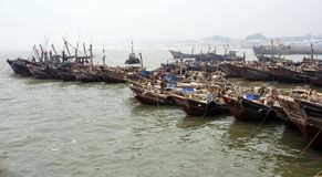 Sea fishing boats Royalty Free Stock Image