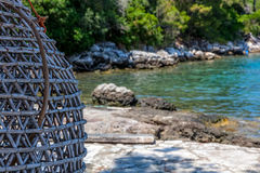 Sea fishing trap Royalty Free Stock Photo