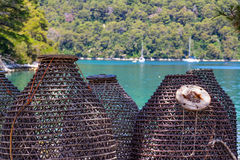 Sea fishing traps Royalty Free Stock Photo