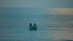 Sea fishing stock video