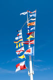 Sea flags Royalty Free Stock Image