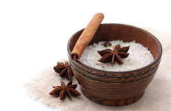 Sea flavored salt with spice Royalty Free Stock Photography