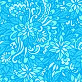 Sea flowers. Seamless decorative pattern. Stock Photos