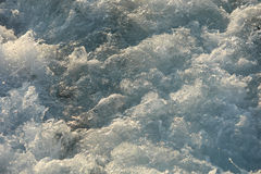 Sea foam. Splashes and sea foam from the boat screw Royalty Free Stock Image