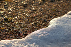 Sea foam. The beach of the sea, sand Royalty Free Stock Image