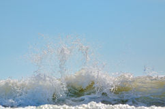 Sea foam of big wave Royalty Free Stock Photos