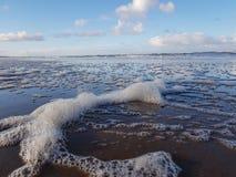 Sea foam royalty free stock photos