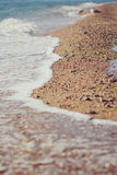 Sea foam on the sand. lifestyle contact pedigree ancestry.  stock photos