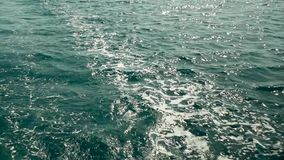 Sea Foam Seawater. On the water surface stock video