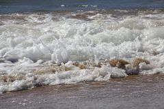 Sea foam stock photography