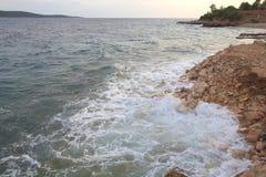 Sea foams. Royalty Free Stock Photos
