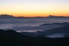 Sea of fog Royalty Free Stock Photo
