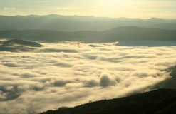Sea of fog Stock Photography