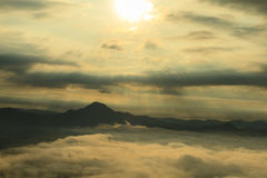 Sea of fog and mountain Royalty Free Stock Image