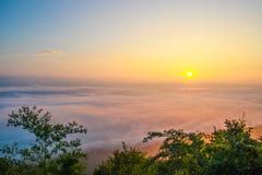 Sea fog ,nan provinces - nan thailand Royalty Free Stock Photos