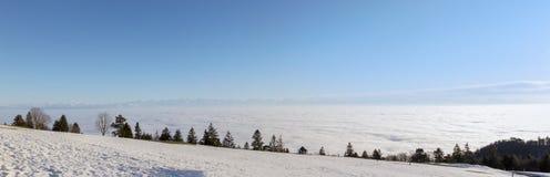 Sea of fog over the Weissenstein mountain Royalty Free Stock Photo