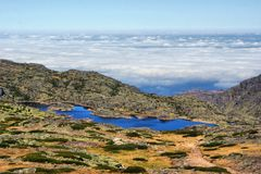 Sea fog in Serra da Estrela Royalty Free Stock Images