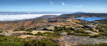 Sea fog in Serra da Estrela Royalty Free Stock Image