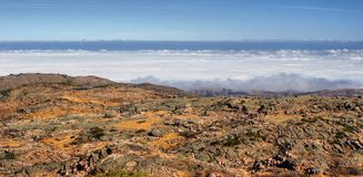 Sea fog in Serra da Estrela Stock Image