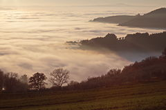 Sea of fog Royalty Free Stock Photos