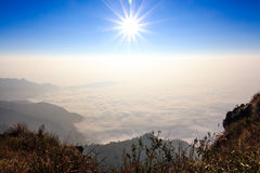 Sea of fog Royalty Free Stock Photos