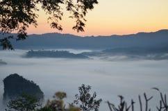 The sea of fog. Take a view at Phu Lang Ka Thailand Royalty Free Stock Image